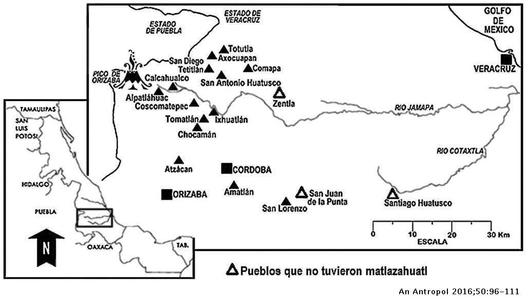 9ba0816f4145 Mapa con la ubicación geográfica de los poblados mencionados en el ...