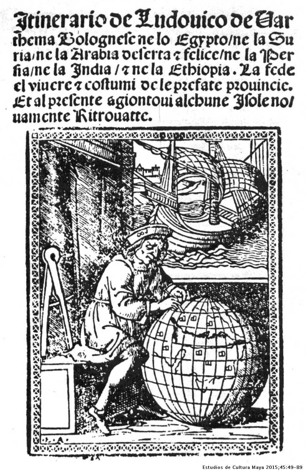 060c5673e Portada del Itinerario de Ludovico de Varthema en la edición de Zorzi di  Rusconi