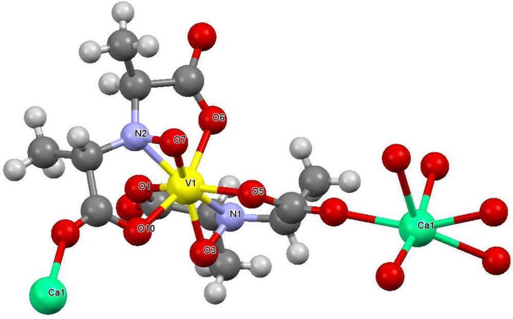 estructura cristalina de la amavadina los iones de calcio se utilizaron para obtener cristales de