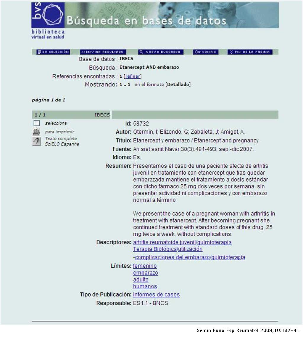 56ac9bc2e Ejemplo de registro bibliográfico del Índice Bibliográfico Español en  Ciencias de la ...