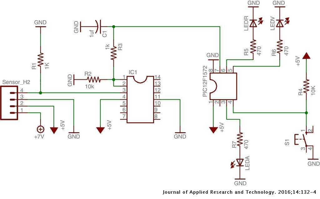 Hydrogen Gas Detector Card