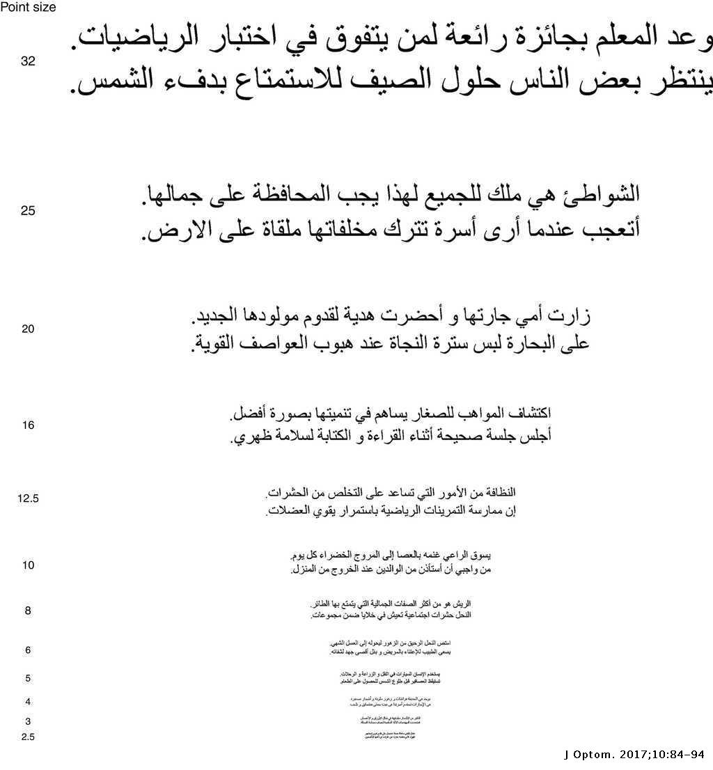 Toward developing a standardized Arabic continuous text