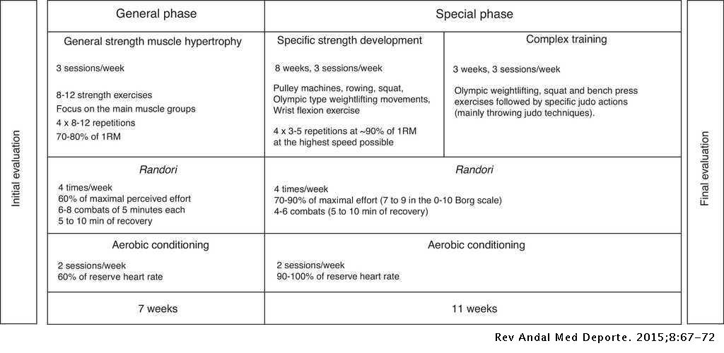 Specificity of performance adaptations to a periodized judo