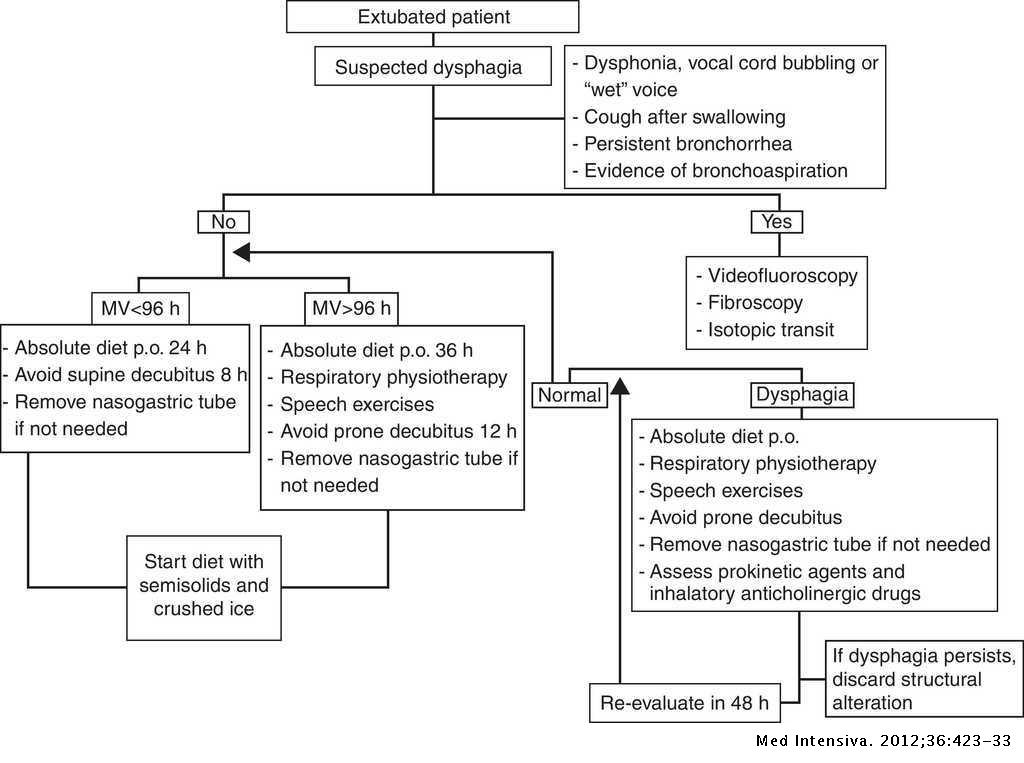 Exploration and approach to artificial airway dysphagia