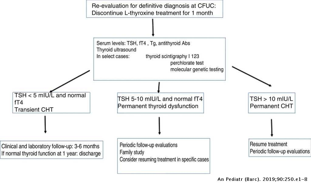 Diagnosis and follow-up of patients with congenital hypothyroidism
