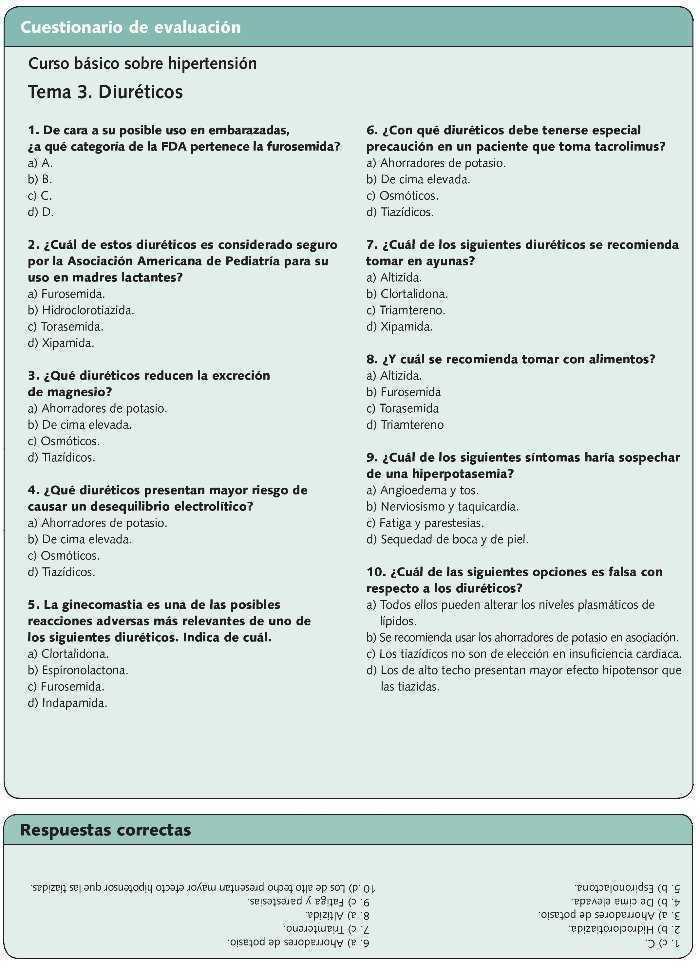 diuréticos tiazídicos mecanismo de acción hipertensión dieta