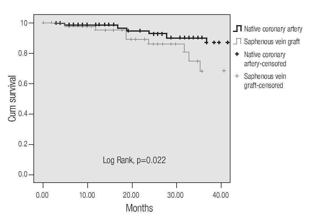 Long Term Outcomes Of Saphenous Vein Graft Stenting Compared With