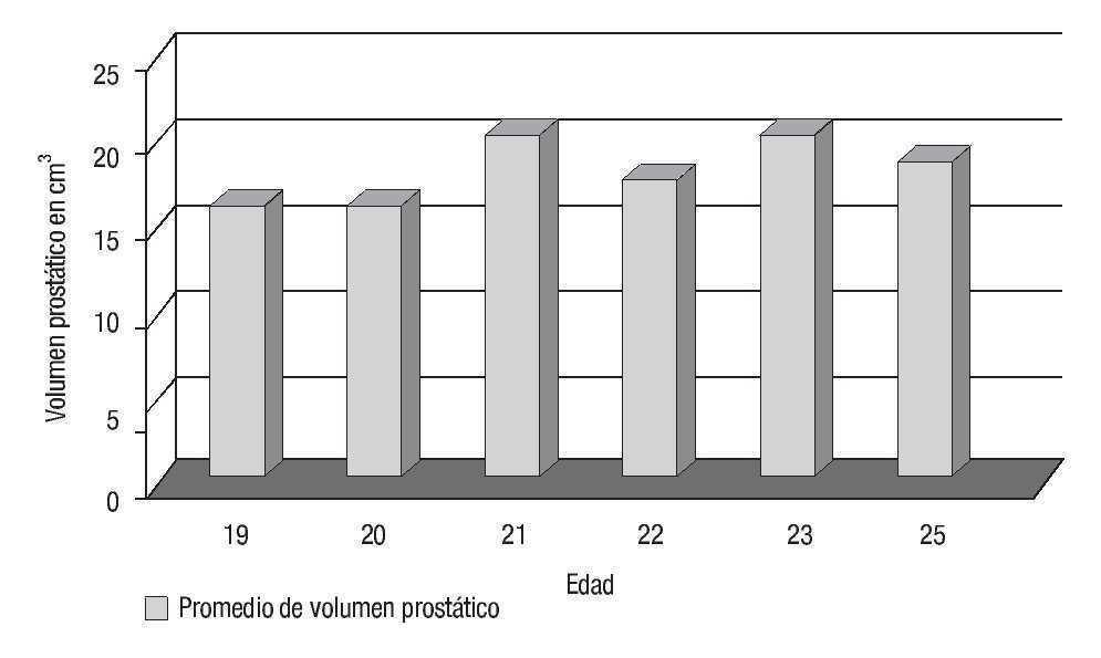 volumen normal de la próstata ccc