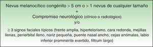 Definición de melanosis neurocutánea.
