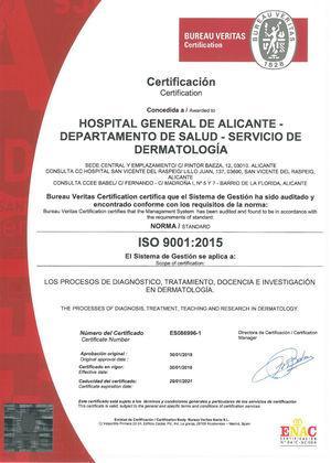 Certificación ISO.