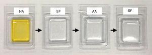 Proceso de tinción. AA: ácido acético: NA: naranja de acridina; SF: suero fisiológico.