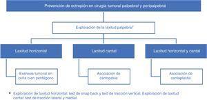 Algoritmo: técnicas quirúrgicas preventivas de ectropión.