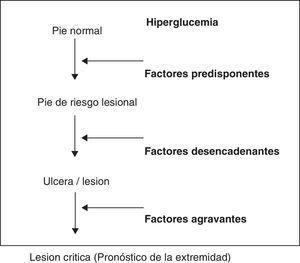 Fisiopatología general de la úlcera del pie diabético.