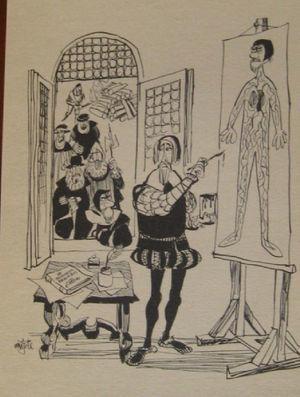 Servet y Calvino. Historia de la Medicina (Mingote, 1964).