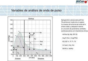 Variables del análisis de onda de pulso.