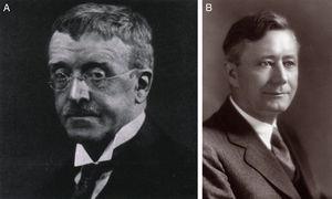 Epónimos del síndrome de Ehlers-Danlos: el danés Edvard Laurits Ehlers (1863-1937) (A) y el francés Henri-Alexandre Danlos (1844-1912) (B).
