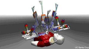 El sistema robótico Raven, diseñado por la Universidad de California en Santa Cruz, Estados Unidos.
