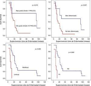 Análisis de supervivencia libre de enfermedad (SLE) detallado.