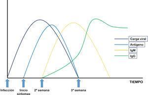 Evolución de la carga viral y perfil serológico de la infección por SARS-CoV-2.