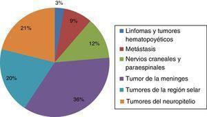 Distribución de tumores en mayores de 20 años (n=398).
