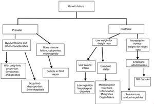 Algorithm to assess growth disorders in IEI.