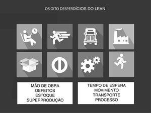Os oito desperdícios do Lean.