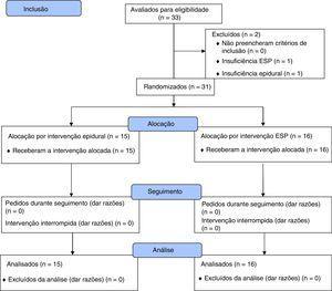 Fluxograma do estudo (padrão CONSORT).