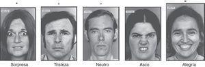 Ejemplos de rostros para identificar emociones.