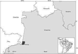 Map of the Tabatinga municipality, State of Amazonas, Brazil.