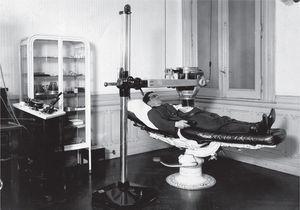 Consultorio de Carelli, Sección de Radioterapia.