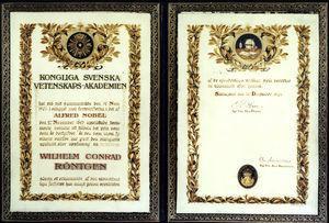Documento del Premio Nobel.