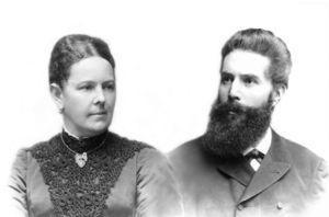Roentgen y su esposa, Anna Bertha.
