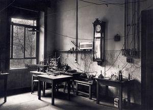 El laboratorio de Roentgen en Würzburg.