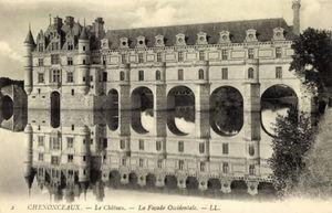 El castillo de Chenonceau a principios del siglo XX.