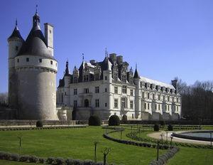 Vista actual del castillo de Chenonceau.