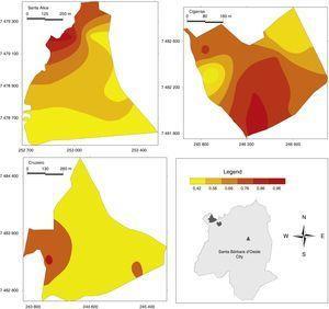 Simpson diversity index maps.