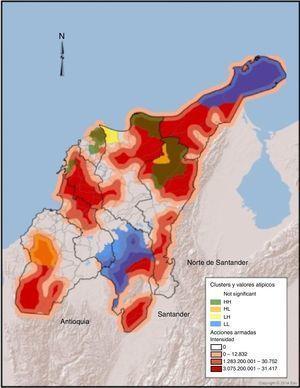 Aglomeraciones del ICV y densidad de las AA. Fuente: construcción propia a partir de datos del SIGOT. La figura se encuentra disponible en color en la versión electrónica del artículo.