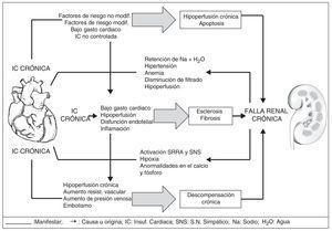 Síndrome cardiorrenal tipo II.