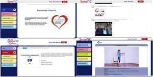 Capturas de pantalla de estrategias basadas en TIC.