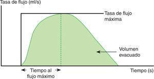 Parámetros determinados en una curva fluométrica normal.