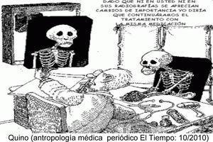Quino: «Antropología médica» (periódico El Tiempo, 10/2010), gráfica disponible en: http://office.microsoft.com/es-es/clipart/default.aspx.