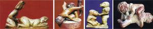Cuatro escenas eróticas mochica (costa peruana+-700 d.C).