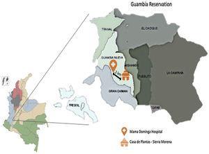 División veredal del resguardo indígena de Guambia, Silvia. Departamento del Cauca. Colombia. Autoría propia.