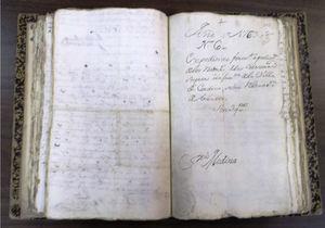 Carátula del expediente de la petición de relevación de tributos con fecha de 1763.