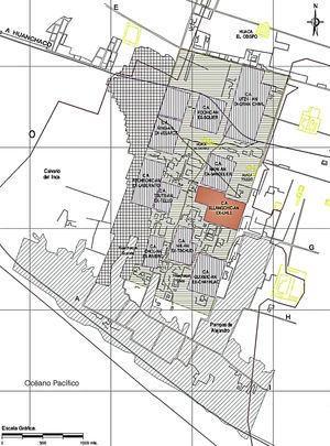 Ubicación del Conjunto Amurallado Xllangchic-An dentro del Complejo Arqueológico Chan Chan.