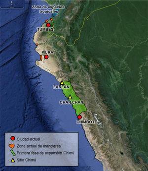 Ubicación de diferentes áreas implicadas en la obtención de la malacofauna registrada en el conjunto amurallado Xllangchic-An.