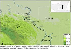 Localización del sitio arqueológico Chinikihá (Montero, 2011, p. 58, figura 3.3).
