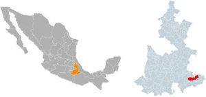 Ubicación de Ajalpan. Fuente: http://www.sep.gob.mx/wb/sep1/sep1_Puebla#.WDYJ0dw6M3g