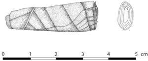 Puro de tabaco, Unidad 5 (dibujo de D. Domenici y C. Pongetti).