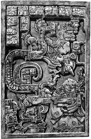 Yaxchilán Lintel 25, underside. Drawn after Graham and von Euw (1977: 55).